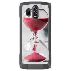 Funda Gel Tpu para Homtom HT70 Diseño Reloj Dibujos