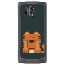 Funda Gel Tpu para Homtom HT70 Diseño Tigre Dibujos