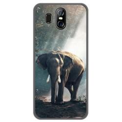 Funda Gel Tpu para Homtom S16 Diseño Elefante Dibujos