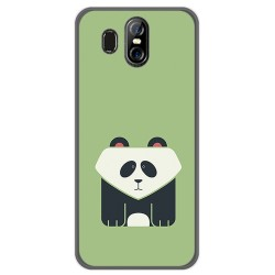 Funda Gel Tpu para Homtom S16 Diseño Panda Dibujos