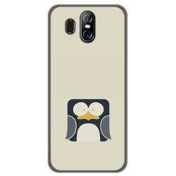 Funda Gel Tpu para Homtom S16 Diseño Pingüino Dibujos