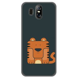 Funda Gel Tpu para Homtom S16 Diseño Tigre Dibujos