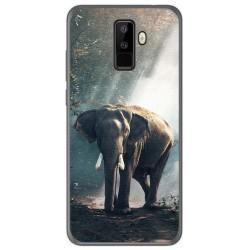 Funda Gel Tpu para Leagoo M9 Diseño Elefante Dibujos
