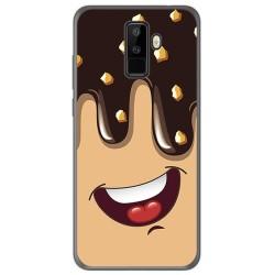 Funda Gel Tpu para Leagoo M9 Diseño Helado Chocolate Dibujos