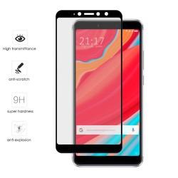 Protector Cristal Templado Frontal Completo Negro para Xiaomi Redmi S2 Vidrio