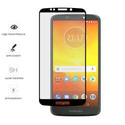 Protector Cristal Templado Frontal Completo Negro para Motorola Moto E5 / G6 Play Vidrio