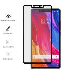Protector Cristal Templado Frontal Completo Negro para Xiaomi Mi 8 Se Vidrio