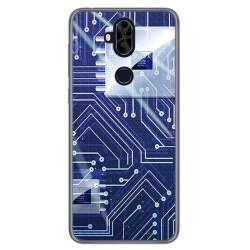 Funda Gel Tpu para Asus Zenfone 5 Lite Zc600Kl Diseño Circuito Dibujos