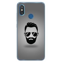 Funda Gel Tpu para Xiaomi Mi 8 Diseño Barba Dibujos