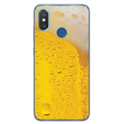 Funda Gel Tpu para Xiaomi Mi 8 Diseño Cerveza Dibujos