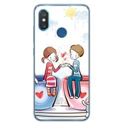 Funda Gel Tpu para Xiaomi Mi 8 Diseño Cafe Dibujos