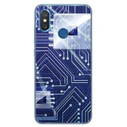 Funda Gel Tpu para Xiaomi Mi 8 Diseño Circuito Dibujos