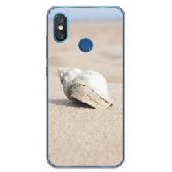 Funda Gel Tpu para Xiaomi Mi 8 Diseño Concha Dibujos