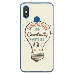 Funda Gel Tpu para Xiaomi Mi 8 Diseño Creativity Dibujos