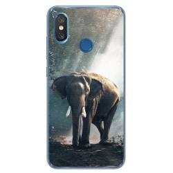 Funda Gel Tpu para Xiaomi Mi 8 Diseño Elefante Dibujos