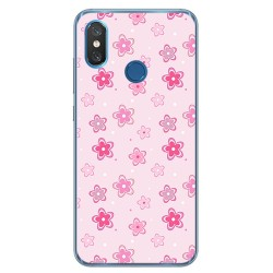 Funda Gel Tpu para Xiaomi Mi 8 Diseño Flores Dibujos