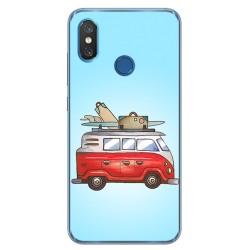 Funda Gel Tpu para Xiaomi Mi 8 Diseño Furgoneta Dibujos