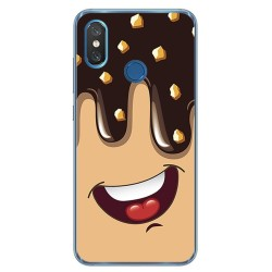 Funda Gel Tpu para Xiaomi Mi 8 Diseño Helado Chocolate Dibujos