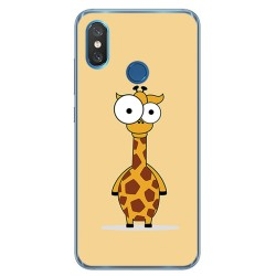 Funda Gel Tpu para Xiaomi Mi 8 Diseño Jirafa Dibujos