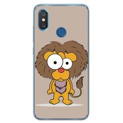 Funda Gel Tpu para Xiaomi Mi 8 Diseño Leon Dibujos