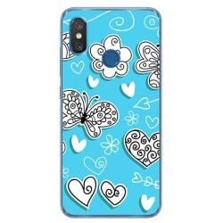 Funda Gel Tpu para Xiaomi Mi 8 Diseño Mariposas Dibujos
