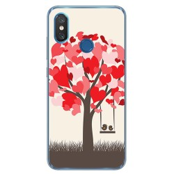 Funda Gel Tpu para Xiaomi Mi 8 Diseño Pajaritos Dibujos