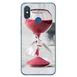 Funda Gel Tpu para Xiaomi Mi 8 Diseño Reloj Dibujos