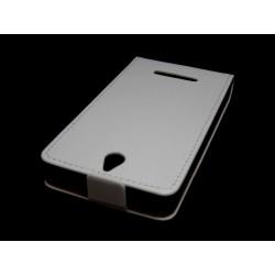 Funda Piel Premium Ultra-Slim Sony Xperia E Blanca