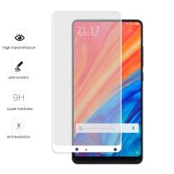 Protector Cristal Templado Frontal Completo Blanco para Xiaomi Mi Mix 2S Vidrio