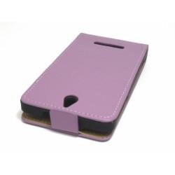 Funda Piel Premium Ultra-Slim Sony Xperia E Morada / Violeta