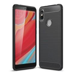 Funda Gel Tpu Tipo Carbon Negra para Xiaomi Redmi S2