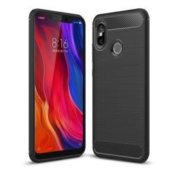 Funda Gel Tpu Tipo Carbon Negra para Xiaomi Mi 8
