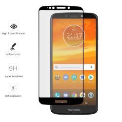 Protector Cristal Templado Frontal Completo Negro para Motorola Moto Moto E5 Plus Vidrio