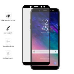Protector Cristal Templado Frontal Completo Negro para Samsung Galaxy A6 Plus (2018) Vidrio