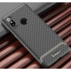 Funda Ipaky Tipo Neo Hybrid (Pc+Tpu) Negra / Plata para Xiaomi Mi8