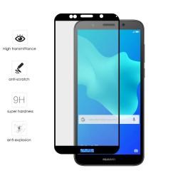 Protector Cristal Templado Frontal Completo Negro para Huawei Honor 7S / Y5 2018 Vidrio
