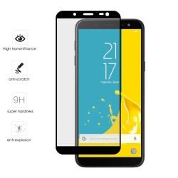 Protector Cristal Templado Frontal Completo Negro para Samsung Galaxy J6 (2018) Vidrio