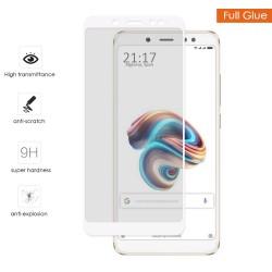 Protector Cristal Templado Completo Full Glue Blanco para Xiaomi Redmi Note 5 / Note 5 Pro Vidrio