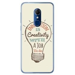 Funda Gel Tpu para Alcatel 3 Diseño Creativity Dibujos