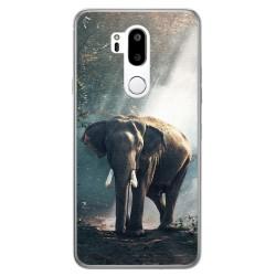 Funda Gel Tpu para Lg G7 Thinq Diseño Elefante Dibujos