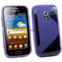 Funda Gel Tpu Galaxy Ace 2 I8160 S Line Color Morada