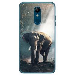 Funda Gel Tpu para Lg K11 Diseño Elefante Dibujos