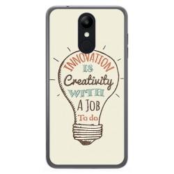 Funda Gel Tpu para Lg K9 Diseño Creativity Dibujos