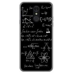 Funda Gel Tpu para Lg Q7 Diseño Formulas Dibujos