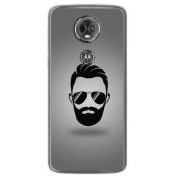 Funda Gel Tpu para Motorola Moto E5 Plus Diseño Barba Dibujos