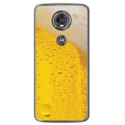 Funda Gel Tpu para Motorola Moto E5 Plus Diseño Cerveza Dibujos