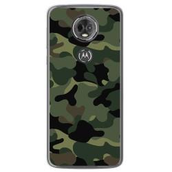 Funda Gel Tpu para Motorola Moto E5 Plus Diseño Camuflaje Dibujos