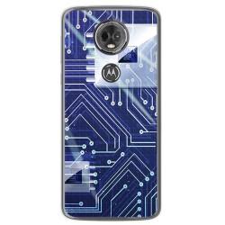 Funda Gel Tpu para Motorola Moto E5 Plus Diseño Circuito Dibujos