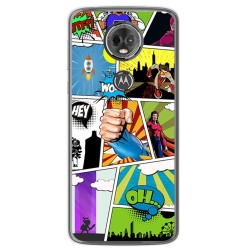 Funda Gel Tpu para Motorola Moto E5 Plus Diseño Comic Dibujos
