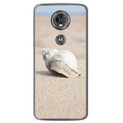 Funda Gel Tpu para Motorola Moto E5 Plus Diseño Concha Dibujos
